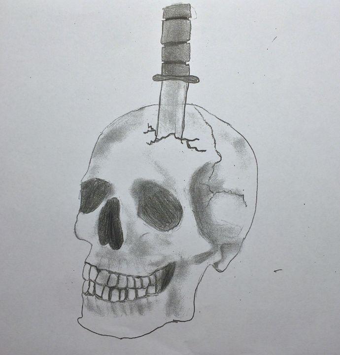 Skulls & Knifes - John's Sketches