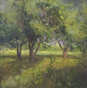 Apple Trees Before Thunderstorm - UkrAArt
