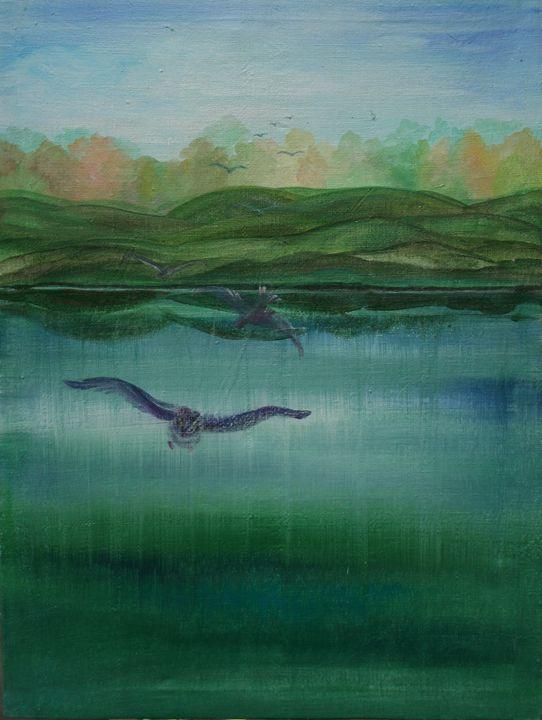 Birds of happiness fly to meet us - UkrAArt