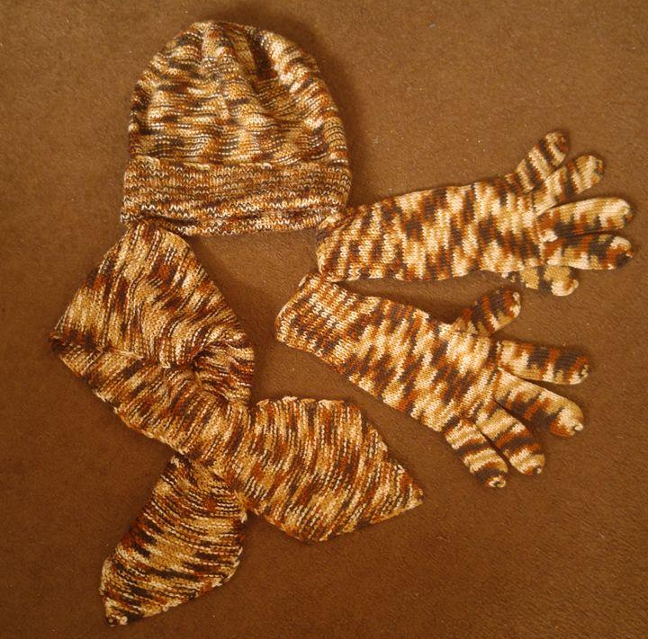 hat scarf gloves set, melange - natalija's gallery