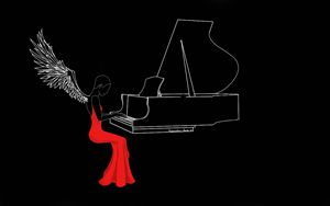 Girl In the Red Dress with the Piano