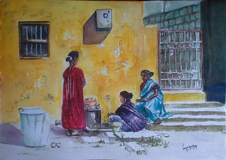 Three friends - Lasya Upadhyaya A