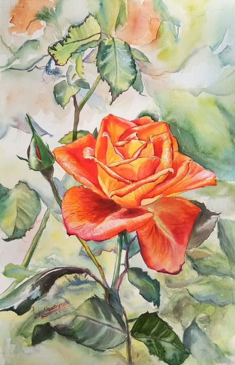 Stop and smell the rose - Lasya Upadhyaya A