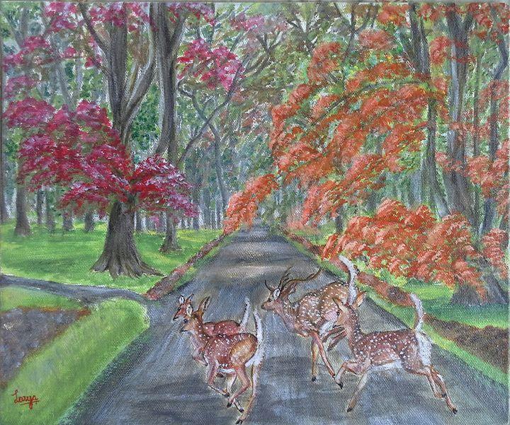 Deer in the park - Lasya Upadhyaya A