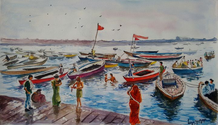 Ferries of the Ganges - Lasya Upadhyaya A