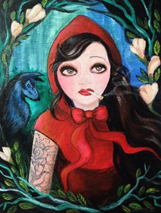 Disgruntled Red Riding Hood