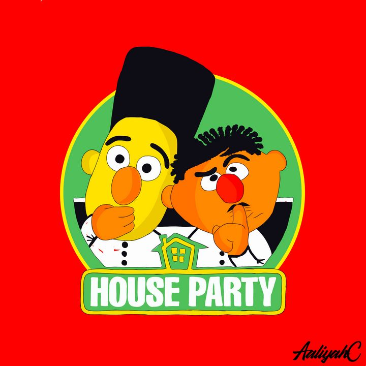 Bert and Ernie's Party - Artwall