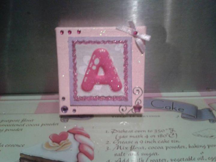 Handmade Miniature Lettered Canvas - Pretty Unique Art