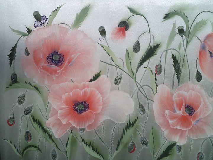 Dancing Poppies. Left part. - Angelina