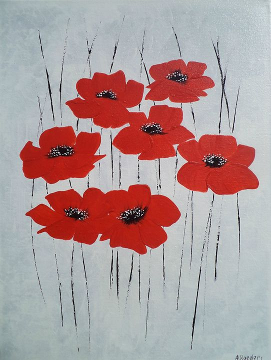 Seven Poppies. Black-Red-White - Angelina