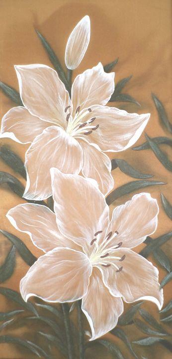 White lilies. - Angelina