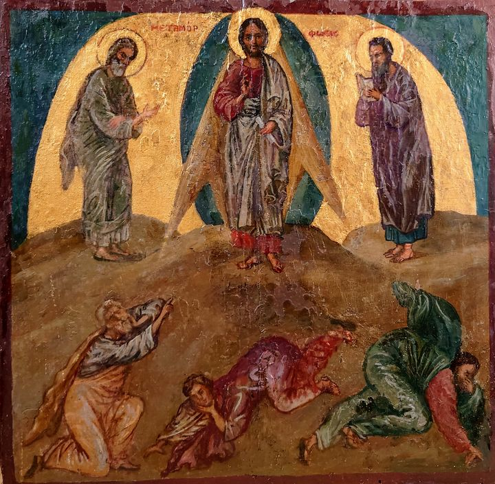 The transfiguration - Corfu Paintings by Sefer