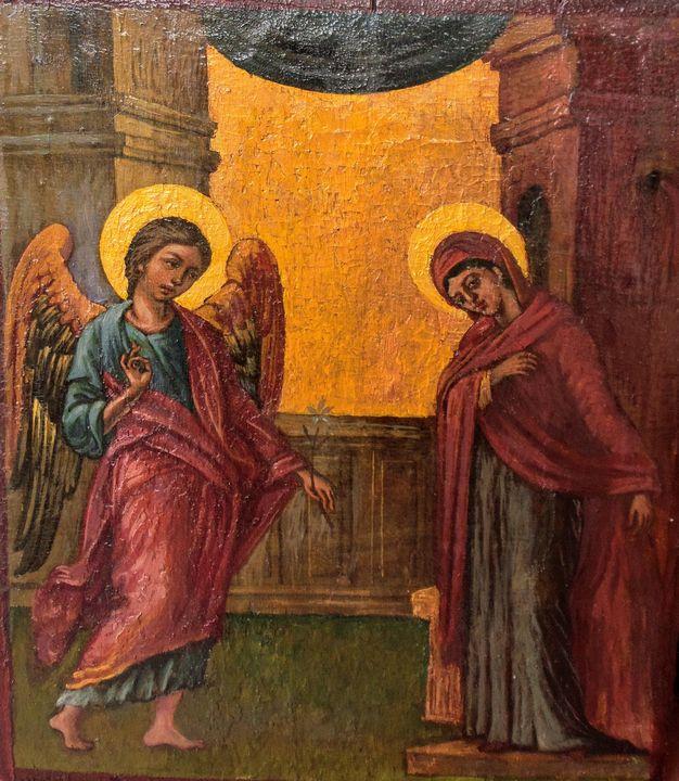 The Angel visit Mariah - Corfu Paintings by Sefer