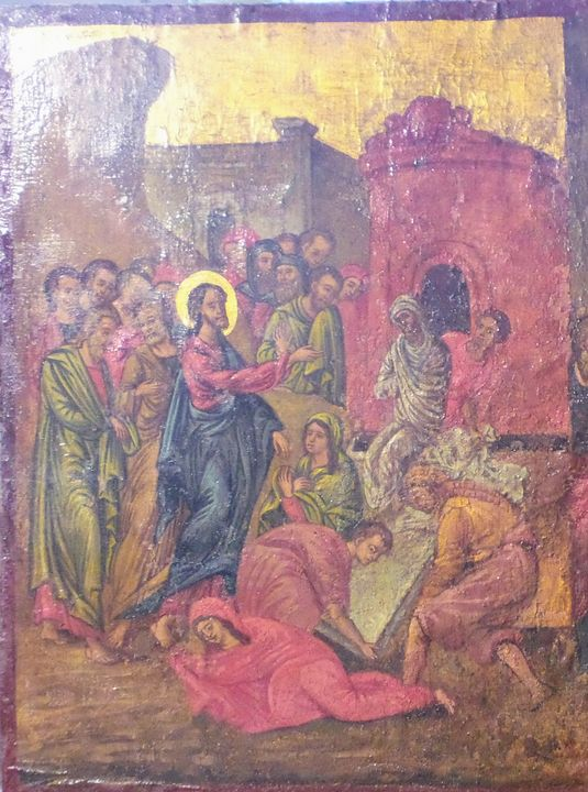 The rise of Lazarus - Corfu Paintings by Sefer