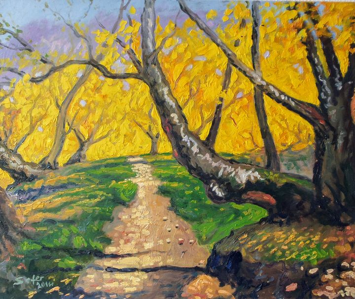 Autumn - Corfu Paintings by Sefer