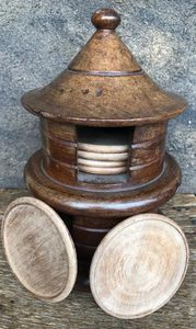 12 Set of Wooden Cup Cover - Ferichi Gallery