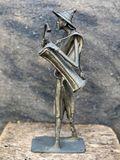 Bronze African Drummer