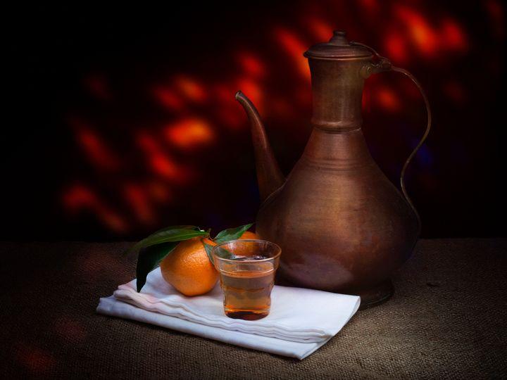 Tea and oranges. - Judith Flacke Still Life