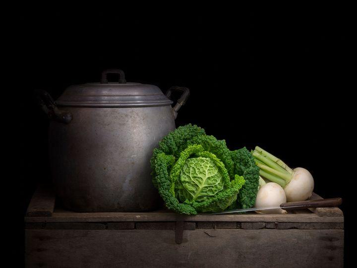 Winter vegetables vintage still life - Judith Flacke Still Life
