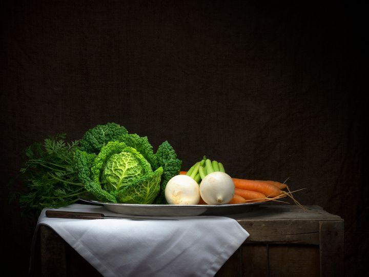 Winter vegetable platter, still life - Judith Flacke Still Life