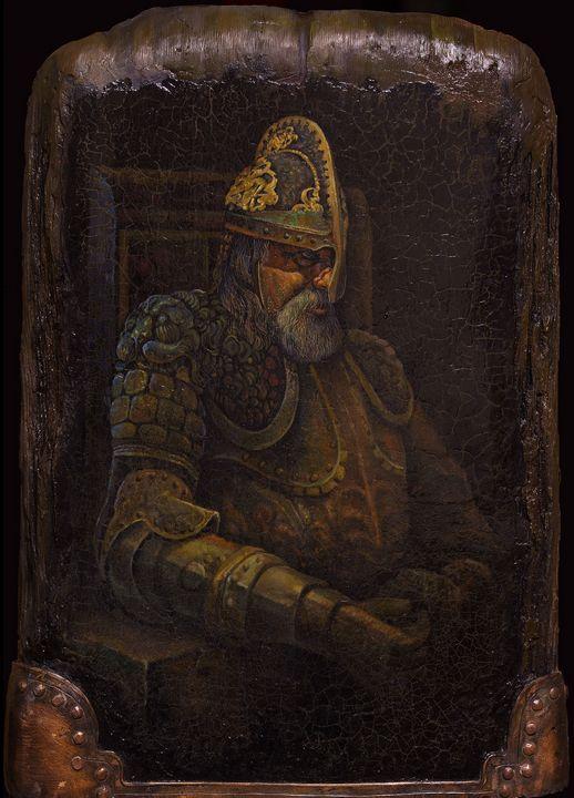 Old man in armour - Sergey Lesnikov art