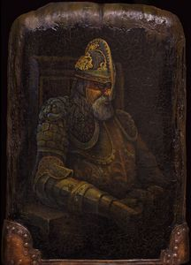 Old man in armour - Sergey Lesnikov art