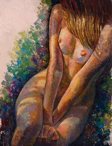 Nude girl, study - Sergey Lesnikov art