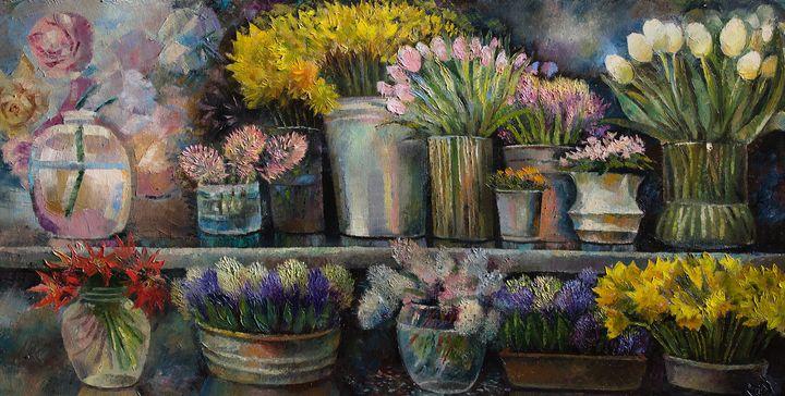 Flower shop - Sergey Lesnikov art