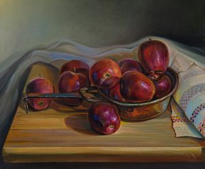 Red apples - Sergey Lesnikov art