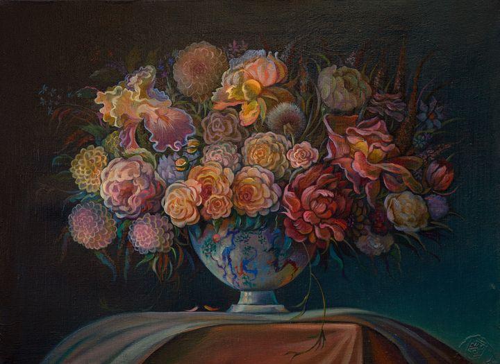 Grand bouquet, smaller version. - Sergey Lesnikov art