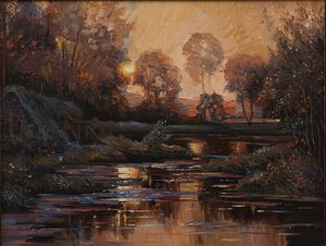 L.A.Knight The Winding River - Sergey Lesnikov art