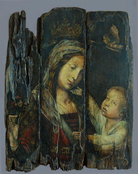 The Virgin in Glory, vintage copy - Sergey Lesnikov art