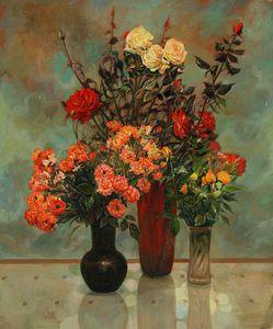 Autumn roses - Sergey Lesnikov art