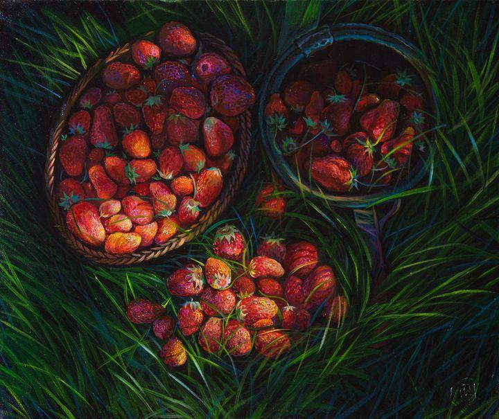 Strawberry field - Sergey Lesnikov art