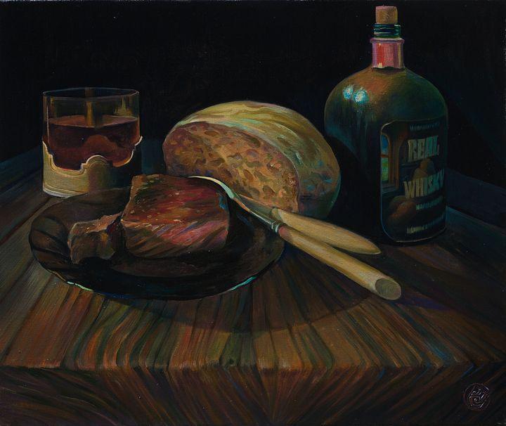 """Real Whisky"" - Sergey Lesnikov art"