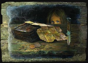 The Flint's map - Sergey Lesnikov art