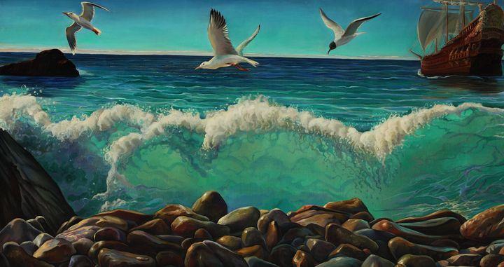 Sailing away - Sergey Lesnikov art