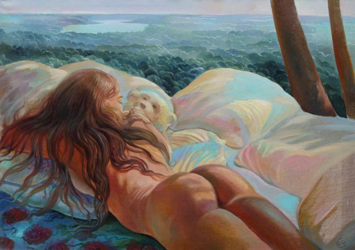 Teddy bear - Sergey Lesnikov art