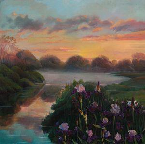 In the evening light - Sergey Lesnikov art