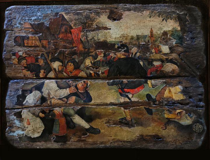 The Peasant Dance, copy - Sergey Lesnikov art