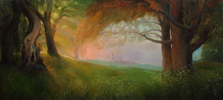 To the light - Sergey Lesnikov art
