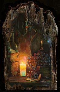 Candle in the cellar - Sergey Lesnikov art