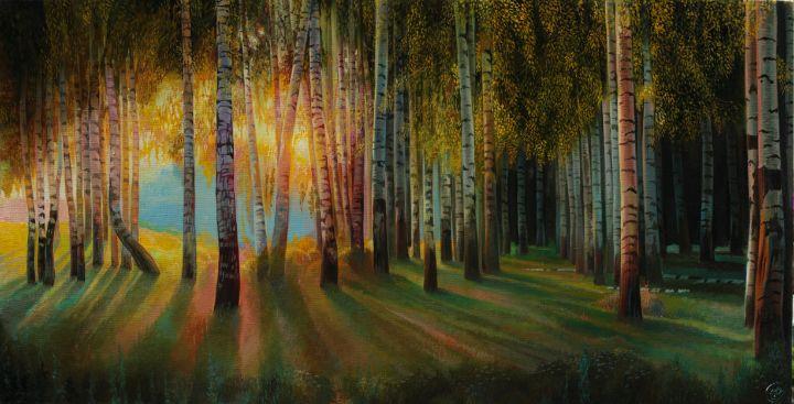 Birch Grove - Sergey Lesnikov art