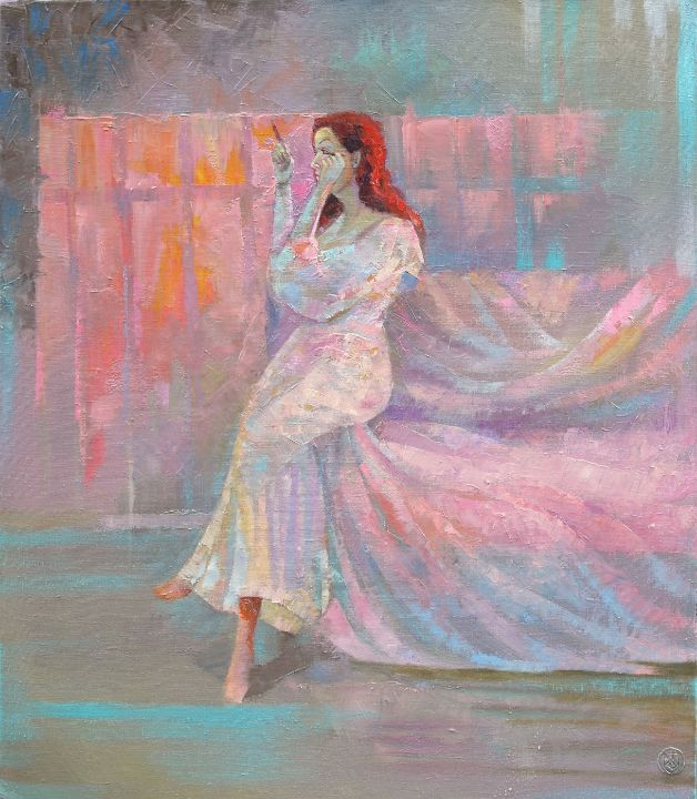 In the pink light - Sergey Lesnikov art
