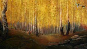 Autumn gold - Sergey Lesnikov art