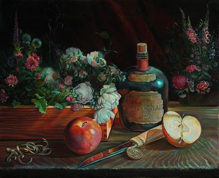 Old Silver's flower hobby 2 - Sergey Lesnikov art