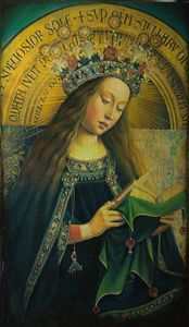 Virgin from Ghent Altarpiece - Sergey Lesnikov art