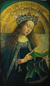 Virgin from Ghent Altarpiece - Sergey Lesnikov art