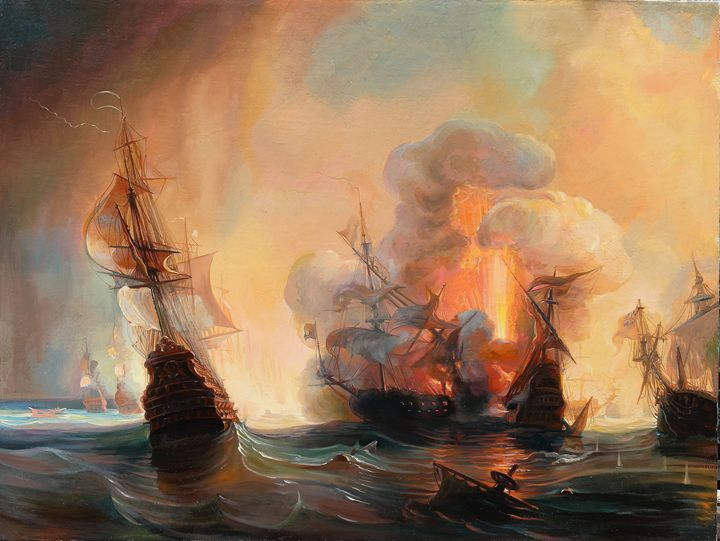 Battle of Lagos by Théodore Gudin - Sergey Lesnikov art
