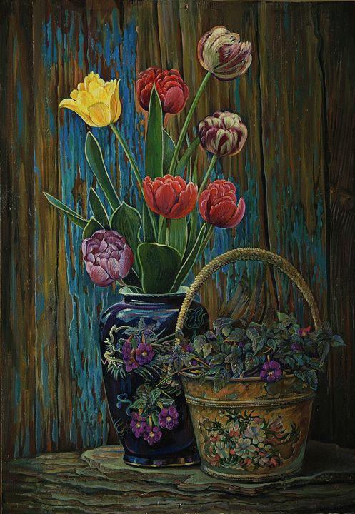 Tulips - Sergey Lesnikov art